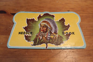Vintage Needle Book - Indian Chief