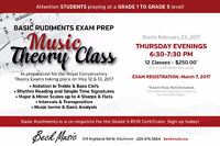 Theory Classes - RCM Basic Rudiments Exams Prep Course