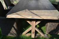 Handcrafted trestle dining tables