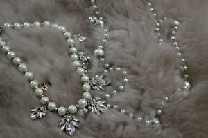 2 Faux Pearl Necklaces