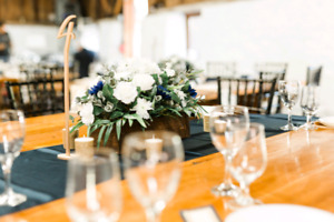 Wedding items - Silk floral centerpieces and table numbers