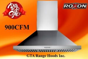 900 CFM Wall  Kitchen Exhaust Range Hood  Fan on Sale for $399