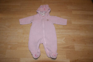 Baby items: bibs, blankets, books, Girl 0-6 month clothing