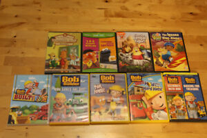 9 Kids DVDs including Bob the Builder Sesame Street Go Diego Go