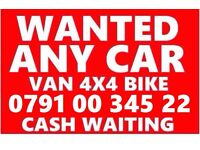 07910034522 wanted car van motorcycle sell my for cash no mot buy your scrap fast cash today honda