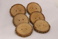 Natural Handmade Wooden Buttons for knit ware, crochet, and more