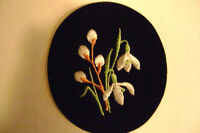 Embroidered Spring Flowers
