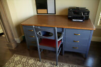 Antique Solid wood desk and chair