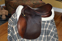 Santa Cruz/Richvale Saddlery wool seat close contact Saddle 17""