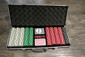 New Never Used Professional Poker Set! First $100 takes it.