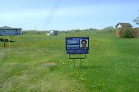 Urgent sale  Pie shaped building lot  Vesturland suburb of Gimli