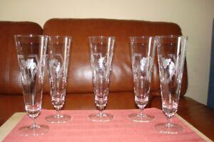 Flûtes à champagne ou autre en cristal