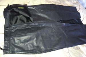 Danier ankle length leather skirt size 12