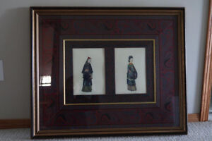 A unique vintage Chinese royal family picture designed by John
