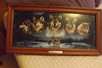Spirits of the Pack Wolf wall framed illuminated Picture