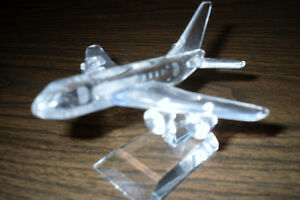 Cut glass/Crystal miniature airplane
