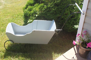 Old Handmade Sled /Snow Carriage or use for flowers in Summer