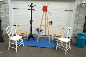 COAT RACK,CHAIRS, CABINET+ MORE * See Each ITEM PRICE----------