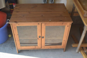 Glass Fronted Hutch/ T.V. Stand