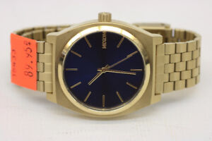 Nixon Time Teller Light Gold & Cobalt Analog Watch (#16433)