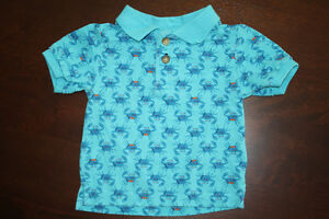 Crab Golf Shirt- 6-9 months