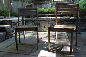 Teak Outdoor Dining Chairs (Set of 4)