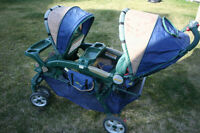 double stroller and jogger for sale