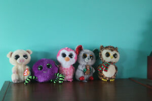 5 Assorted Small Beanie Boos Excellent Condition With Tags