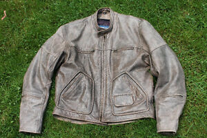 Screaming Eagle brown leather jacket XL like new