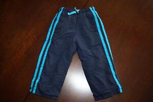 Children's Place Fleece Lined Nylon Pants Navy