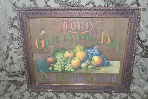 "Old ""Lord Give Us This Daily Bread"" Print London Ontario image 1"