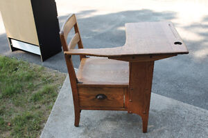 Antique oak school desk Peterborough Peterborough Area image 2