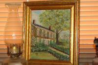Beautiful Hand Painted picture of Country Home