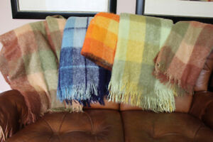 Five Gorgeous Never-Used 100% Mohair Blankets or Throws