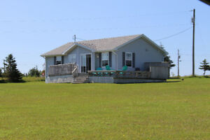 Ocean view cottage located on seclude lot.