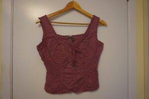 Tristan & Iseut brand top, Size small - Plum colour