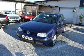 Volkswagen Golf 1.6 2002MY SE 5 DOOR BLUE+BARGAIN