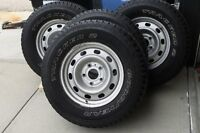 4--  P265/70R17 Goodyear Trackers  on rims