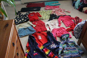 Girls lot Size 5 clothing 16 long sleeve tops 4 pairs of pants