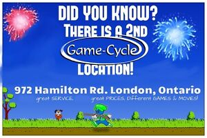 """""""GAME CYCLE""""  BUY SELL TRADE Video Games Systems & DVD's - Top $ London Ontario image 1"""