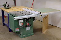 General 650R 3HP cabinet saw with accessories