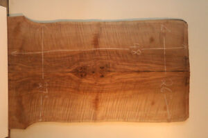 Spectacular figure bookmatch bastogne walnut slabs.