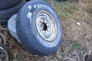 4 assorted 235/85 16 Tires 2 ford 8 hole wheels Prince George British Columbia image 3