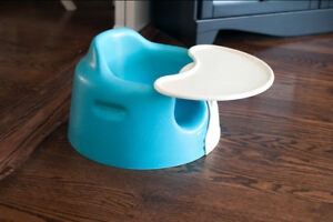Blue Bumbo Chair with Tray