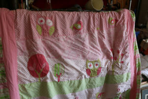 GIRLS OWL BED SETS COVER PILLOWS SHAMS AND MORE