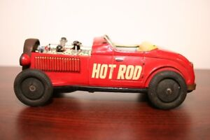 Vintage Tin Friction Hot Rod Toy Car - Made in Japan