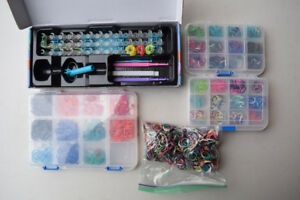Rainbow Loom and Rubber rings LOT