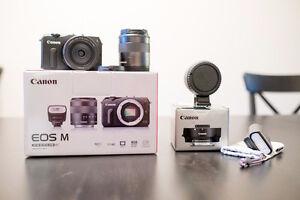 Canon EOS M Mirrorless Camera w/ 18-55mm, 22mm f/2 + more! Peterborough Peterborough Area image 1
