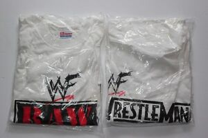 2 for $15.00 Wrestling Tee Shirts WrestleMania & Raw Is War