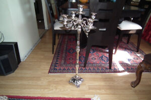 "Silver Plated 5 Arms Candelabra 50"" c.m. high for Weddings/Event"